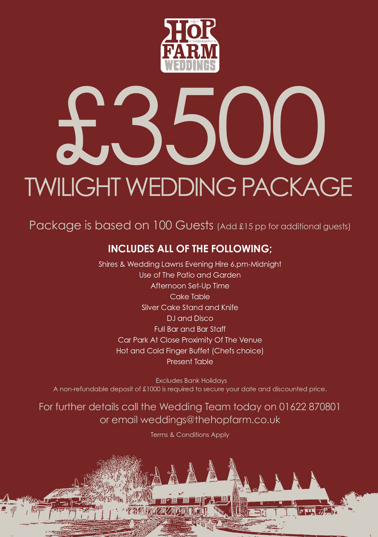 Hop Farm Wedding Twilight Package - Wedding Ideas ...